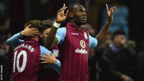 Aston Villa striker Christian Benteke