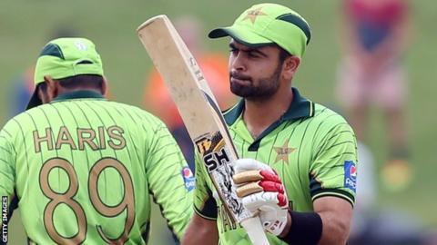 Pakistan's Haris Sohail and Ahmed Shehzad