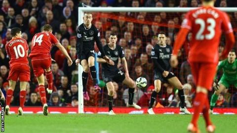 Jordan Henderson fires in a second goal in two games