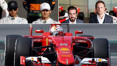 Lewis Hamilton, Nico Rosberg, Fernando Alonso, Jenson Button, Sebastian Vettel