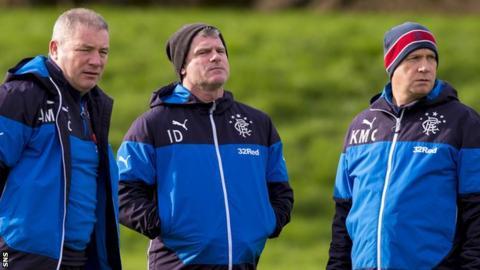 Ally McCoist, Ian Durrant and Kenny McDowall