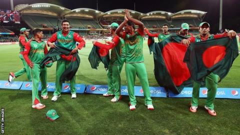 Bangladesh celebrate victory