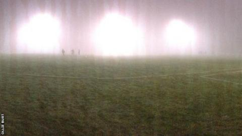 The fog at Poltair Park
