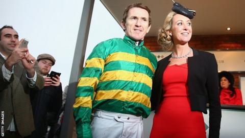 AP McCoy alongside his wife Chanelle McCoy
