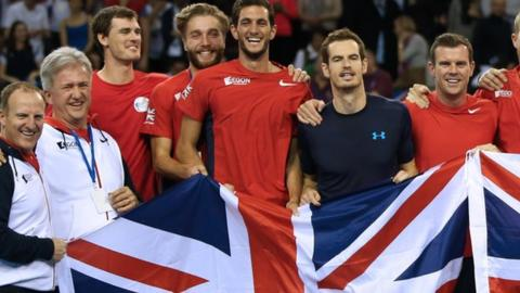 Great Britain celebrate beating the United States in Glasgow