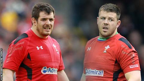 Aaron Jarvis (L) and Rob Evans (R) start for Wales