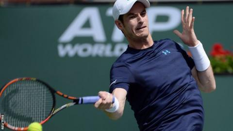 Andy Murray at Indian Wells