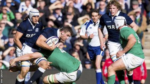 Scotland were hammered 40-10 by Ireland at Murrayfield