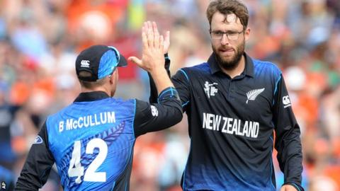 Brendon McCullum and Daniel Vettori