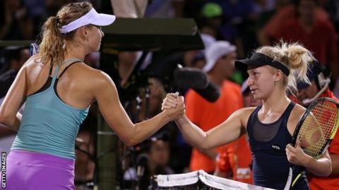 Maria Sharapova (left) and Daria Gavrilova (right)