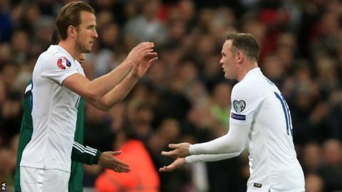 Harry Kane replaced Wayne Rooney in the 72nd minute at Wembley