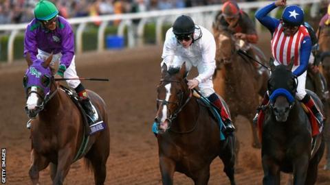 Jockey Victor Espinoza on California Chrome