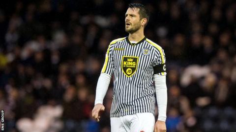 St Mirren captain Steven Thompson