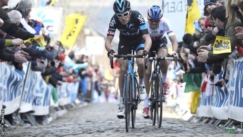 Geraint Thomas has enjoyed success on the cobbles this season after winning the E3 Harelbeke