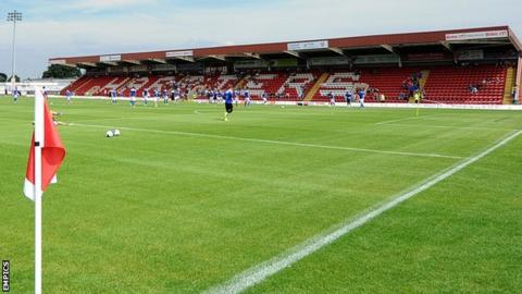 Aggborough, home of Kidderminster Harriers and Worcester City