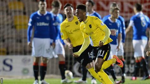 Livingston's Myles Hippolyte scored from a free-kick to give the hosts the lead