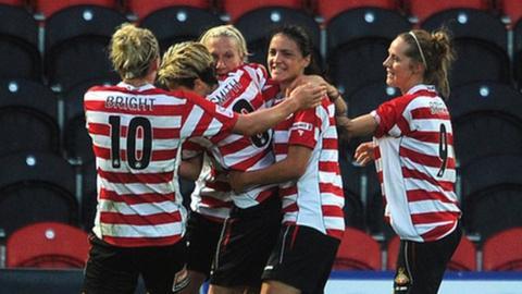 Doncaster Rovers Belles celebrate