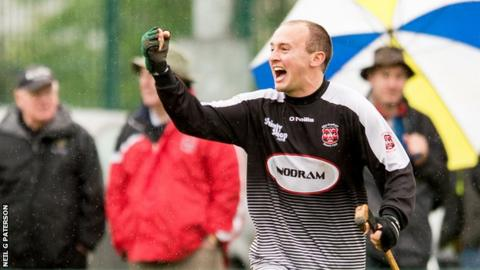 Glenurquhart goalkeeper Stuart MacKintosh
