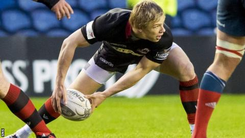 Nathan Fowles in action for Edinburgh.