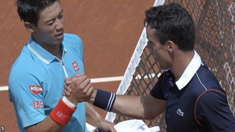 Kei Nishikori and Roberto Bautista Agut