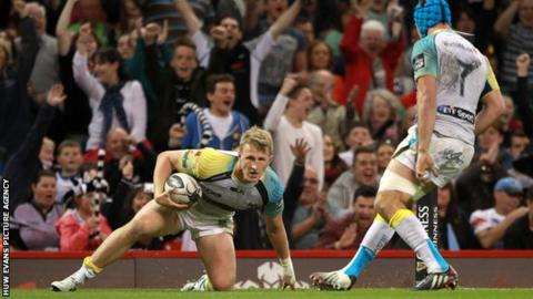 Ben John claimed Ospreys' fourth try to secure a valuable bonus point