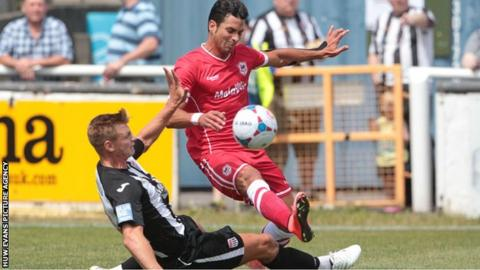 Javi Guerra playing in a friendly for Cardiff City