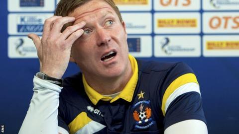 Kilmarnock manager Gary Locke