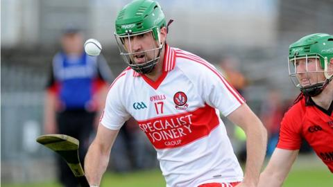 Ruairi Convery was among the Derry scorers against Mayo