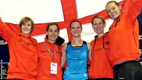 England's women win the European team title