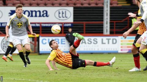 Kris Doolan scores for Partick Thistle against St Mirren