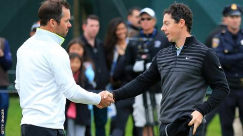 Rory McIlroy Paul Casey