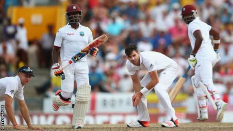 West Indies accumulate against England in Barbados