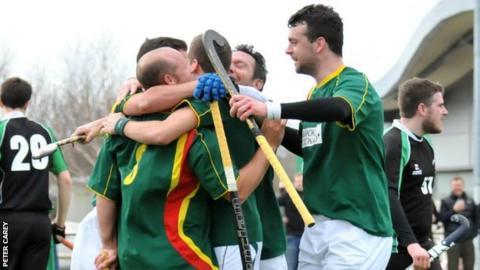 Guernsey celebrate a goal in the semi-final