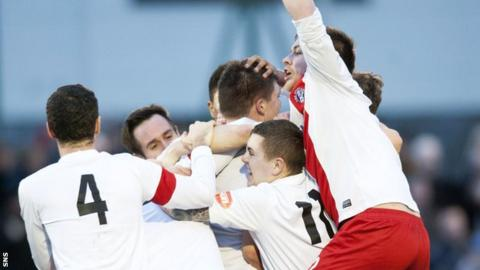 Spartans got as far as the fifth round of the Scottish Cup.