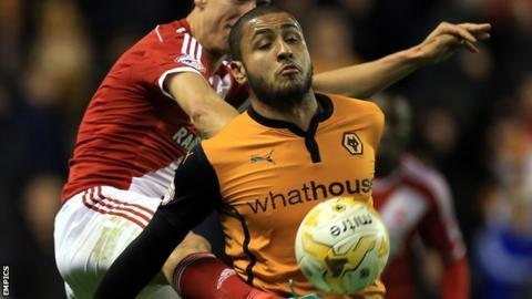 Wolves striker Leon Clarke