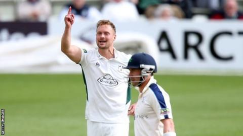 Worcestershire all-rounder Gareth Andrew