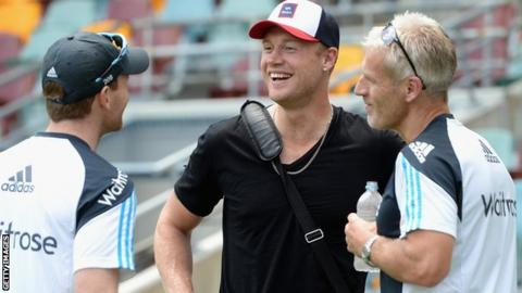 Andrew Flintoff and Peter Moores 2015