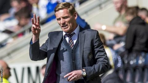 St Mirren manager Gary Teale