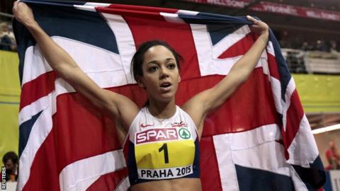 Katarina Johnson-Thompson broke the British indoor pentathlon record in March