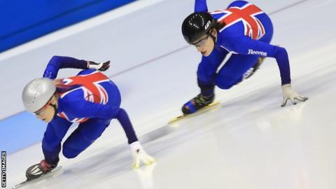 Elise Christie and Charlotte Gilmartin Team GB