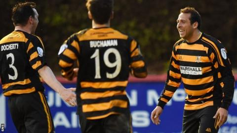 Michael Chopra (right) has scored twice for Alloa since joining in March