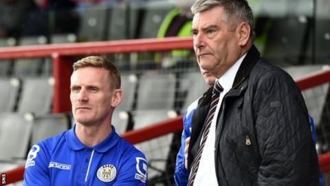 St Mirren manager Gary Teale (left) has yet to be offered the job permanently by chairman Stewart Gilmour