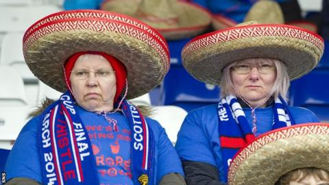 Inverness fans celebrated qualifying for Europe for the first time