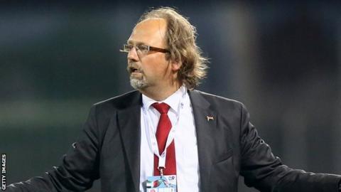 Belgian coach Tom Saintfiet
