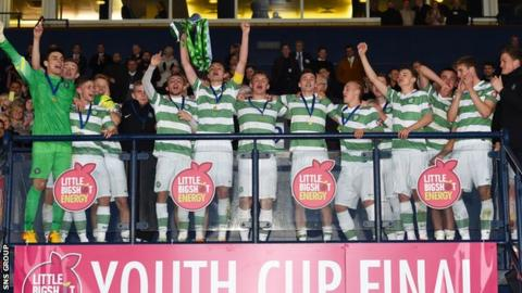 Celtic celebrate their Youth Cup triumph at Hampden