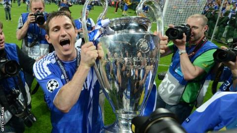 Chelsea were the last Premier League side to win the Champions League, lifting the trophy in 2012