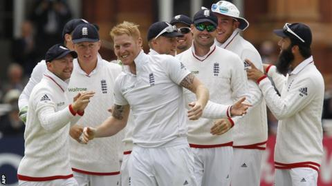 Ben Stokes celebrates