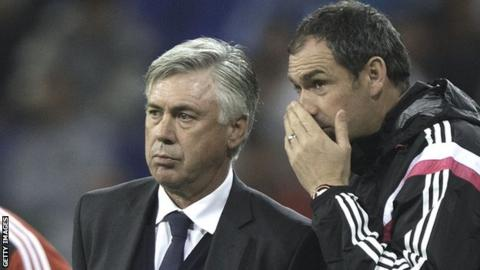 Clement (right) and Carlo Ancelotti