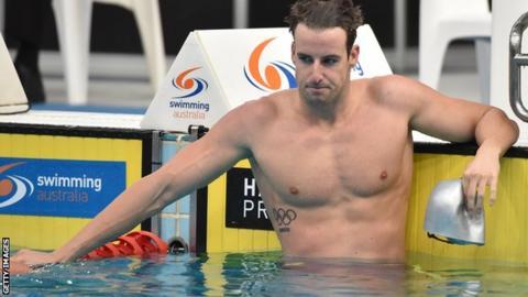 Australian swimmer James Magnussen
