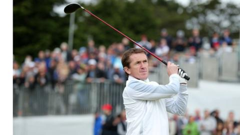 Twenty times Champion jump jockey AP McCoy has a more time to play golf since his retirement in April